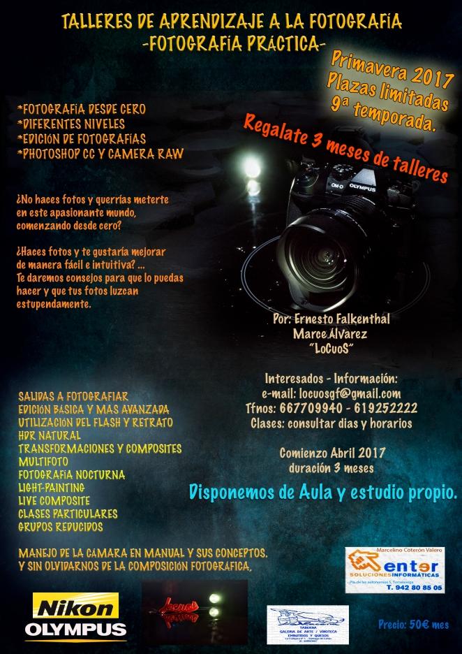 Cartel talleres foto 2017-PRIMAVERA
