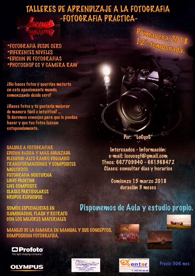 Cartel talleres foto 2018-PRIMAVERA