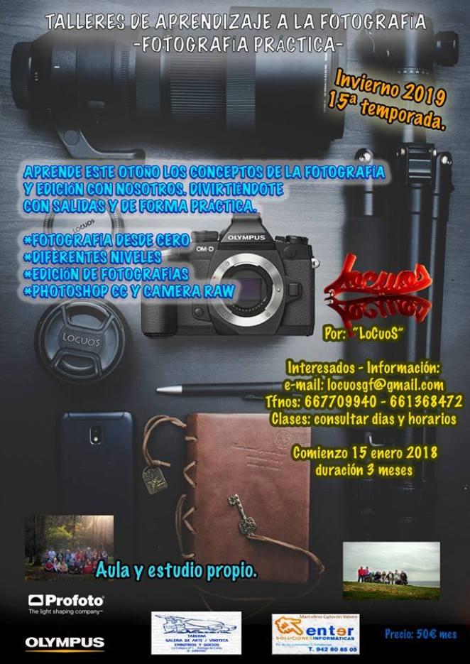 cartel talleres invierno 2019 face